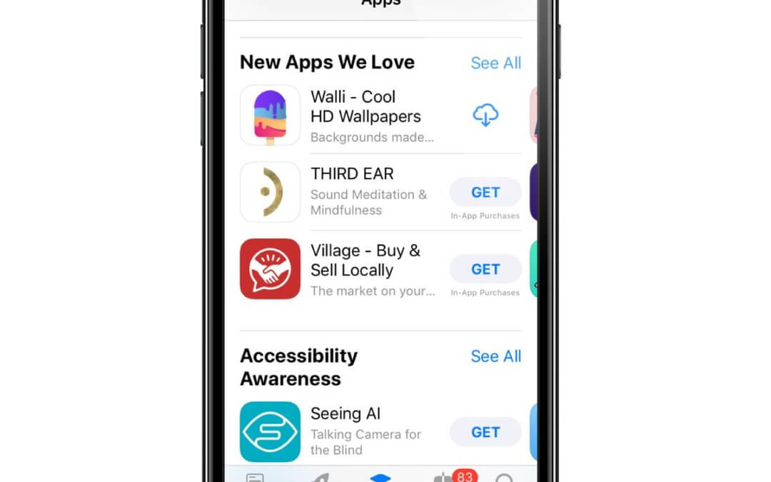 Walli is featured on the AppStore!